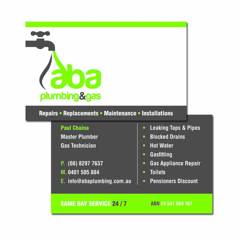 Landscape Double Sided Business Card