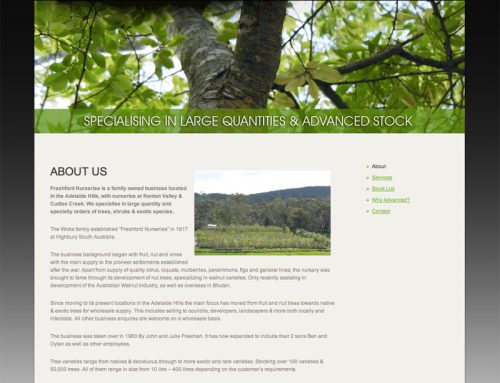 Freshford Nurseries Website