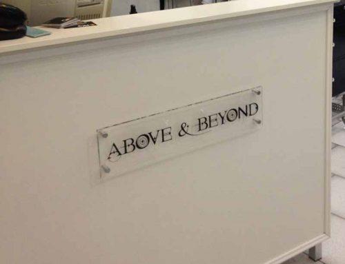Perspex Desk Sign