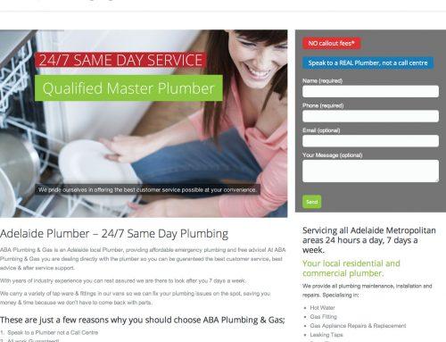 ABA Plumbing Website